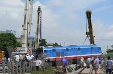 Thông tuyến trở lại sau vụ tai nạn đường sắt tại Nam Định