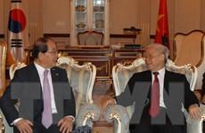 Tổng Bí thư tiếp đoàn Hội hữu nghị Hàn-Việt và đại diện hai dòng họ Lý