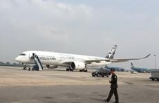 Airbus A350 XWB bay trình diễn lần đầu trên không phận Việt Nam