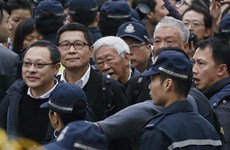 Các thủ lĩnh biểu tình ở Hong Kong đã tới đồn cảnh sát đầu thú