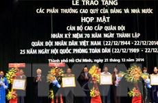 TP.HCM: Họp mặt tướng lĩnh, cán bộ cao cấp quân đội đã nghỉ hưu