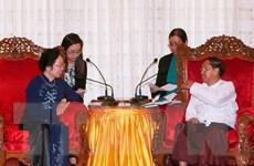 Phó Chủ tịch nước Nguyễn Thị Doan gặp Thủ hiến vùng Yangon