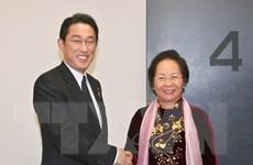 Phó Chủ tịch nước Nguyễn Thị Doan tiếp Bộ trưởng Ngoại giao Nhật Bản