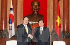 Chủ tịch nước Trương Tấn Sang tiếp Chủ tịch Quốc hội Hàn Quốc