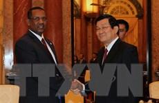 Chủ tịch nước Trương Tấn Sang tiếp Chủ tịch Quốc hội Sudan