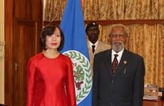 Việt Nam và Belize củng cố và thúc đẩy quan hệ song phương
