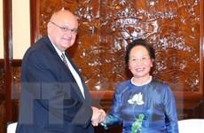 Phó Chủ tịch nước Nguyễn Thị Doan tiếp đại sứ Brazil Marco Antonio