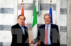 Chủ tịch Mặt trận Tổ quốc Việt Nam gặp Bộ trưởng Ngoại giao Italy