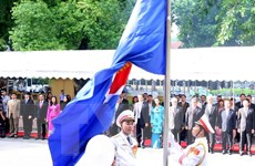 Bộ Ngoại giao tổ chức trọng thể Lễ Thượng cờ ASEAN tại Hà Nội
