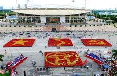 12.000 đoàn viên, thanh niên Thủ đô tham gia xếp hình cờ Tổ quốc