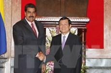 Chủ tịch nước Trương Tấn Sang hội đàm với Tổng thống Venezuela