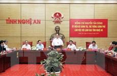 Thủ tướng làm việc với lãnh đạo chủ chốt của tỉnh Nghệ An