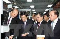Chủ tịch nước Trương Tấn Sang làm việc tại Trường Đại học Việt Đức