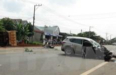 Tai nạn giao thông liên hoàn trên Quốc lộ 14 làm 4 người bị thương