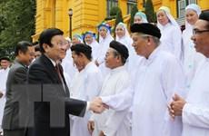 Chủ tịch nước tiếp Đoàn chức sắc, lãnh đạo các hội thánh Cao Đài
