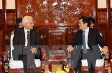 Chủ tịch nước Trương Tấn Sang hội đàm với Tổng thống Italy