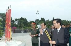 Lãnh đạo TP.HCM viếng nghĩa trang và dâng hương Chủ tịch Hồ Chí Minh