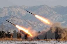 Triều Tiên bắn 2 tên lửa tầm ngắn về hướng biển Nhật Bản