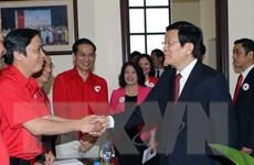 Chủ tịch nước Trương Tấn Sang làm việc với Trung ương Hội Chữ thập Đỏ