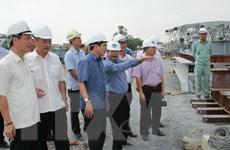 Tiến độ thi công đảm bảo hoàn thành cầu Ghềnh trước ngày 30/6