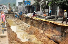 Tiền Giang: Lại vỡ đường ống nước, 50.000 hộ dân bị ảnh hưởng