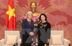 Chủ tịch Quốc hội tiếp Đại sứ Đan Mạch và Đại sứ Thụy Điển
