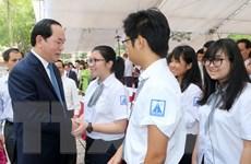 Chủ tịch nước dự Lễ khai giảng tại Trường THPT chuyên Hà Nội-Amsterdam