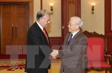 Tổng Bí thư Nguyễn Phú Trọng tiếp Tổng Bí thư Đảng Lao động Mexico