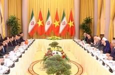 Chủ tịch nước Trần Đại Quang hội đàm với Tổng thống Hassan Rouhain