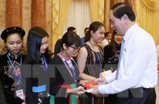 Chủ tịch nước gặp mặt học sinh, sinh viên dân tộc thiểu số xuất sắc