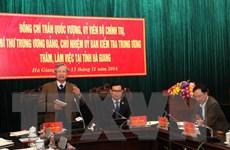 Đoàn Ủy ban Kiểm tra TW Đảng làm việc tại Hà Giang, Tuyên Quang