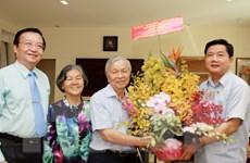 Lãnh đạo Thành phố Hồ Chí Minh thăm, chúc mừng các nhà giáo lão thành