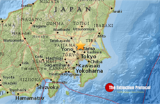 Động đất mạnh 5,3 độ Richter tại tỉnh Ibaraki của Nhật Bản
