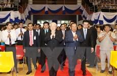 Tổng Bí thư Nguyễn Phú Trọng phát biểu tại Đại học Quốc gia Lào