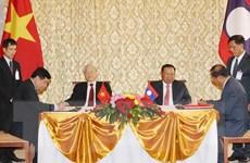 Tuyên bố chung Việt Nam-Lào nhân chuyến thăm của Tổng Bí thư