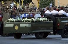 Sự kiện quốc tế 28/11-4/12: Lãnh tụ Cuba Fidel Castro về nơi yên nghỉ