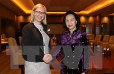 Chủ tịch Quốc hội Nguyễn Thị Kim Ngân gặp Chủ tịch Quốc hội Phần Lan