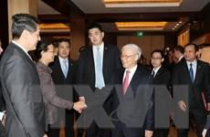 Tổng bí thư hoan nghênh doanh nghiệp Trung Quốc đầu tư vào Việt Nam