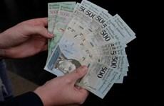 Venezuela chính thức lưu hành các đồng tiền mới mệnh giá lớn