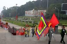 Dâng hương tưởng niệm các Vua Hùng tại điện Kính Thiên
