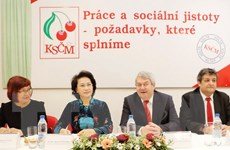 Chủ tịch Quốc hội gặp Chủ tịch Đảng Cộng sản Séc-Morava