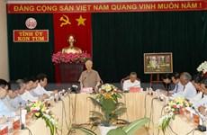 Tổng Bí thư: Đưa Kon Tum tiếp tục phát triển nhanh hơn và bền vững