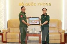 Phó Tổng Tham mưu trưởng QĐND tiếp Đoàn đại biểu Myanmar