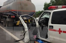 Thông tin thêm về xe cứu thương gây tai nạn rồi bỏ chạy tại Hà Nội