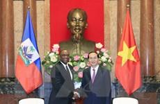 Chủ tịch nước Trần Đại Quang tiếp Chủ tịch Thượng viện CH Haiti