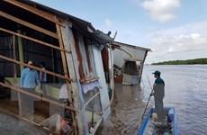 Cà Mau: Sạt lở đất liên tiếp trong đêm, thiệt hại 700 triệu đồng