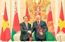 Chủ tịch nước kết thúc chuyến thăm Belarus, lên đường thăm Nga