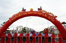 Khánh thành cầu vượt sông thi công trong thời gian kỷ lục