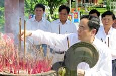 Chủ tịch MTTQ Việt Nam dâng hương, tri ân các anh hùng liệt sỹ