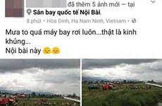 Làm rõ đối tượng tung tin máy bay rơi tại sân bay Nội Bài